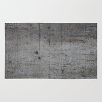 concrete Area & Throw Rugs featuring Concrete by Jeanette Nilssen