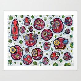 Polka-Dot-Peepul Art Print