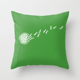 Escape from the dandeLION Throw Pillow