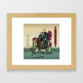 Samurai JRR Tolkien Framed Art Print