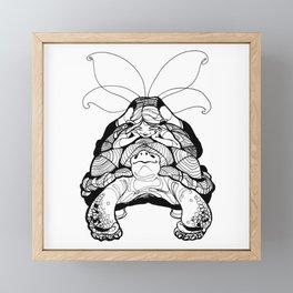 Blossom Light Turtle Fairy Elf Framed Mini Art Print