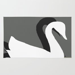 SWANS IN LOVE - Beautiful in every way Rug
