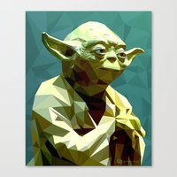 yoda Canvas Prints featuring Yoda by Whitney Silva