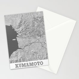 Kumamoto Pencil City Map Stationery Cards