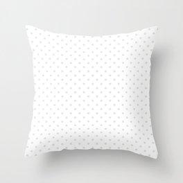 Dots (Platinum/White) Throw Pillow