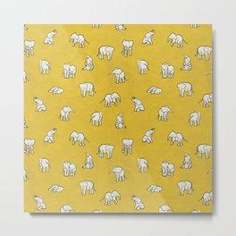 indian baby elephants Metal Print