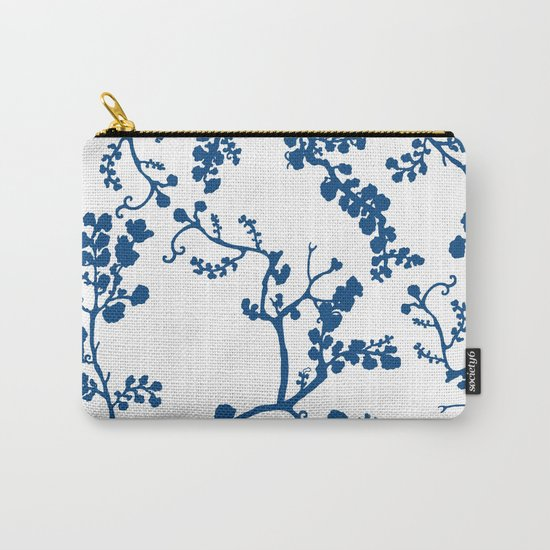 Blue Blossom Carry-All Pouch