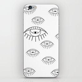 """""""eye"""" don't care iPhone Skin"""