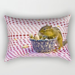 Chipmunk Picnic Rectangular Pillow