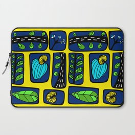 Blue & Yellow Cashew Apple Laptop Sleeve