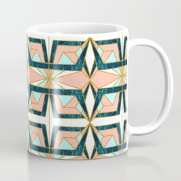 Geometric mosaic pattern of textures II Coffee Mug