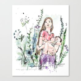 Natural Breastfeeding Canvas Print