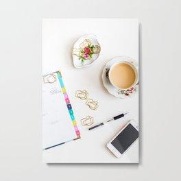 Camera Paper Clips = BRILLIANT [Portrait] Metal Print