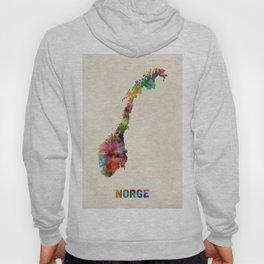 Norway Watercolor Map Hoody