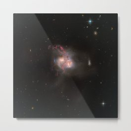 Hubble Space Telescope - Wide-field view of NGC 1510 and NGC 1512 Metal Print
