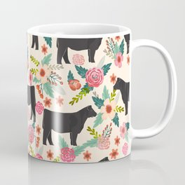 Show Steer cattle breed floral animal cow pattern cows florals farm gifts Coffee Mug