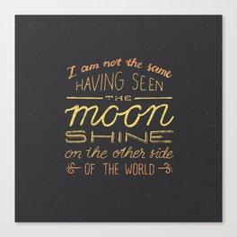 moon quote Canvas Print