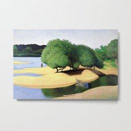 Sandbanks on the Loire river pastoral landscape painting by Felix Vallotton Metal Print
