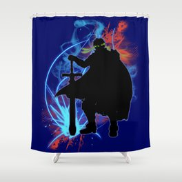 Super Smash Bros. Ike Silhouette Shower Curtain