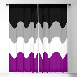 Wavy Asexual Flag Blackout Curtain