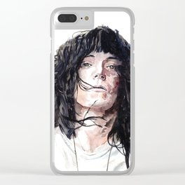 Patti Smith Clear iPhone Case