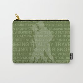Healthy Trekking Olive Typography Logo Travel Design Carry-All Pouch
