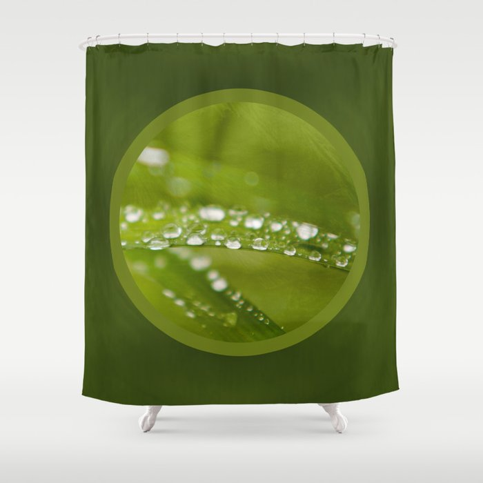 drops in circle Shower Curtain by augenwerk | Society6