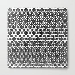 Geometric Star Pattern Metal Print