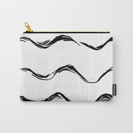 Black lines pattern,abstract background Carry-All Pouch