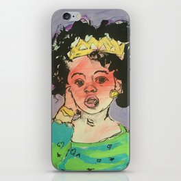 Black Queen in training iPhone Skin