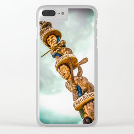 Maori Totem Pole Clear iPhone Case