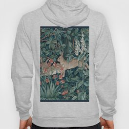 William Morris Forest Rabbits and Foxglove Hoody