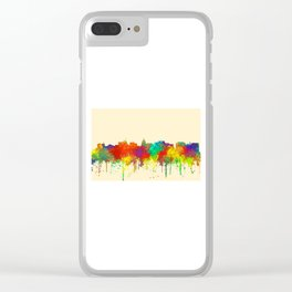 Madison, Wisconson Skyline - SG Clear iPhone Case