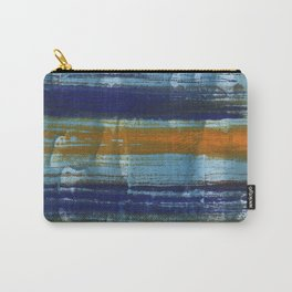 Yellow-blue abstract art Carry-All Pouch