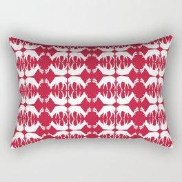 Oh, deer! in cranberry red Rectangular Pillow