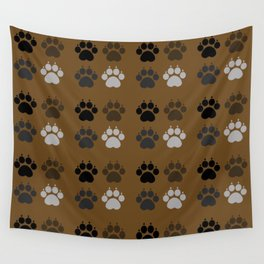 Dog - Paws Wall Tapestry