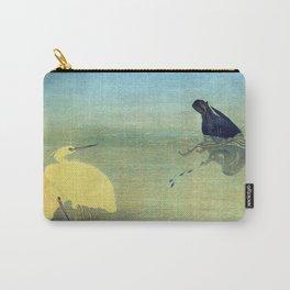 Kitagawa Utamaro Cormorant and White Herons Carry-All Pouch