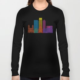 Medellin skyline pop Long Sleeve T-shirt