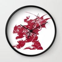 final fantasy Wall Clocks featuring FINAL FANTASY VI by DrakenStuff+