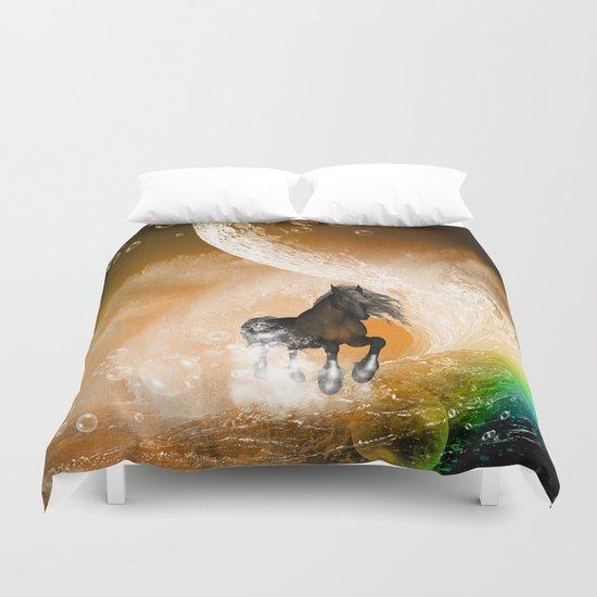 Running horse Duvet Cover