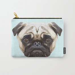 Pug // Pastel Blue Carry-All Pouch