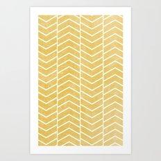 Yellow Chevron Art Print