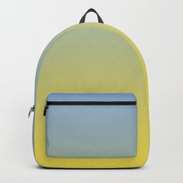Gradient Blend Pantone 2021 Color of the Year Illuminating 13-0647 Yellow and Placid Blue 15-3920 Backpack