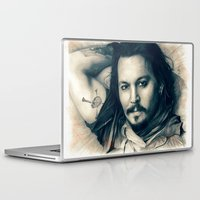 johnny depp Laptop & iPad Skins featuring Johnny Depp II. by Thubakabra