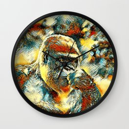 AnimalArt_Gorilla_20180201_by_JAMColorsSpecial Wall Clock