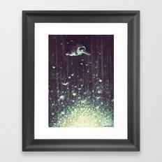 Off the cliff Framed Art Print
