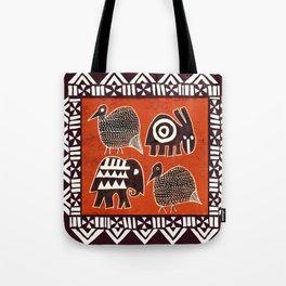 African Animal Folk Art Tote Bag
