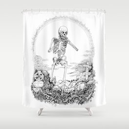 Death and Harmonica Shower Curtain