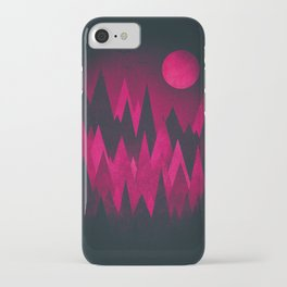 Dark Triangles (Peak Woods) Abstract Grunge Mountains Design (red/black) iPhone Case