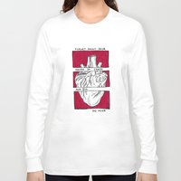 house of cards Long Sleeve T-shirts featuring House of Cards in Red  by Art by Alexandra